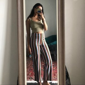 urban outfitters rainbow striped pants